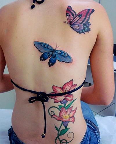 tatuagens femininas delicadas nas costas