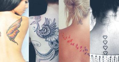 tatoos femininas nas costas