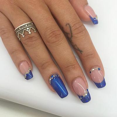 unhas decoradas azul 03-3