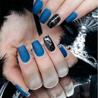 unhas decoradas azul 09-9