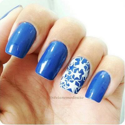 unhas decoradas azul 10-10