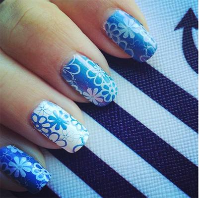 unhas decoradas azul 11-11