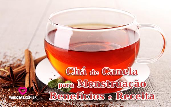 chá de canela para menstruar